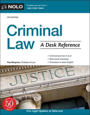 Criminal Law: A Desk Reference Cover Image