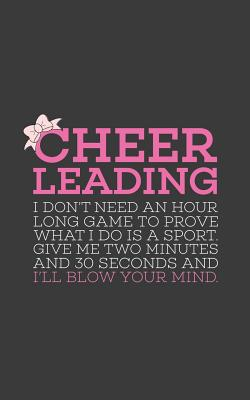 Cheerleading Give Me 2 Two Minutes: Cheerleading Give Me 2 Two Minutes Quote Notebook - Cheerleader Doodle Diary Book Gift For Dance Gymnasts, Sports Cover Image