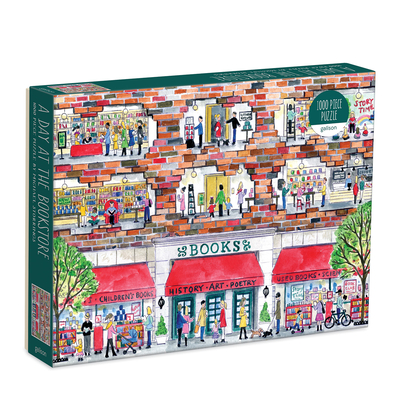Michael Storrings a Day at the Bookstore 1000 Piece Puzzle Cover Image