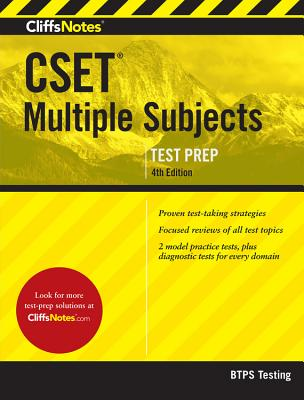 CliffsNotes CSET Multiple Subjects 4th Edition Cover Image