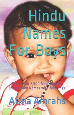 Hindu Names for Boys: More Than 7,500 Most Popular Hindu Baby Names with Meanings Cover Image