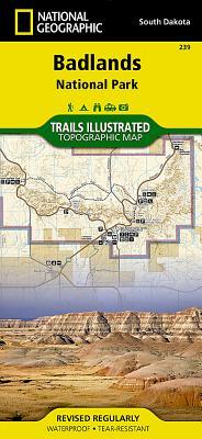 Badlands National Park (National Geographic Maps: Trails Illustrated #239) Cover Image