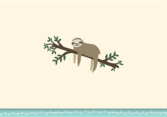Note Card Sloth Cover Image