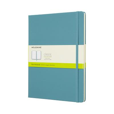 Moleskine Classic Notebook, Extra Large, Plain, Blue Reef, Hard Cover (7.5 x 9.75) Cover Image
