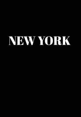 New York: Hardcover Black Decorative Book for Decorating Shelves, Coffee Tables, Home Decor, Stylish World Fashion Cities Design Cover Image