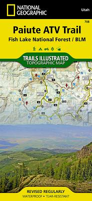 Paiute Atv Trail [fish Lake National Forest, Blm] (National Geographic Maps: Trails Illustrated #708) Cover Image