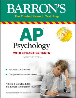 AP Psychology: With 3 Practice Tests (Barron's Test Prep) Cover Image