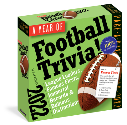 A Year of Football Trivia! Page-A-Day Calendar 2022: All Things Football All Year Long. Cover Image