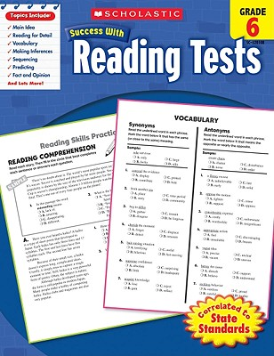 Scholastic Success With Reading Tests: Grade 6 Cover Image