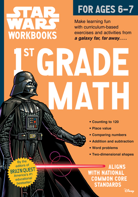 Star Wars Workbook: 1st Grade Math (Star Wars Workbooks) Cover Image