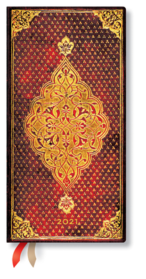 Paperblanks 2021 Golden Trefoil Slim 12-Month Cover Image
