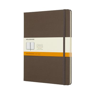 Moleskine Classic Notebook, Extra Large, Ruled, Brown Earth, Hard Cover (7.5 x 9.75) Cover Image