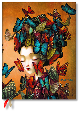 Madame Butterfly 2022 18-Month Softcover Planner, Ultra - Vertical Week-At-A-Time Cover Image