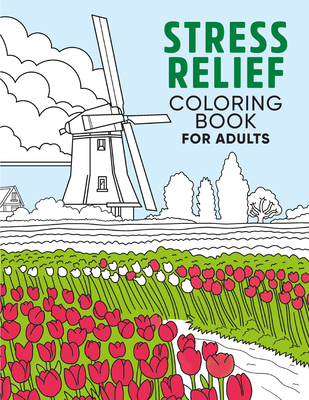 Stress Relief Coloring Book for Adults Cover Image