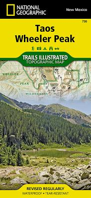 Taos, Wheeler Peak (National Geographic Trails Illustrated Map #730) Cover Image