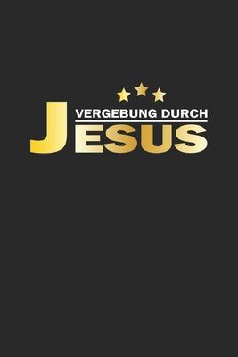 Vergebung durch Jesus: Notizbuch Geschenk-Idee - Karo - A5 - 120 Seiten Cover Image