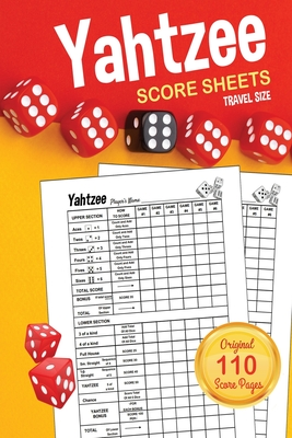 Yahtzee Score Sheets: TRAVEL SIZE Score Pads / Book Cover Image