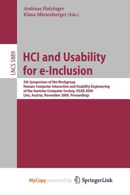 Hci and Usability for E-Inclusion Cover Image