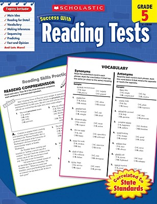 Scholastic Success With Reading Tests: Grade 5 Workbook Cover Image