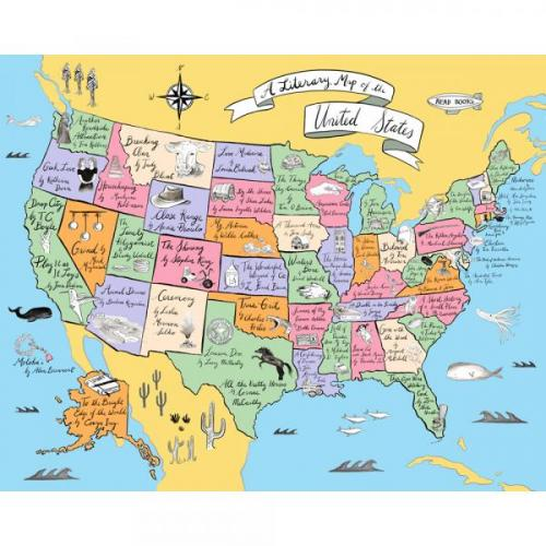 A Literary Map of the U.S Cover Image