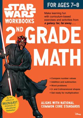 Star Wars Workbook: 2nd Grade Math (Star Wars Workbooks) Cover Image