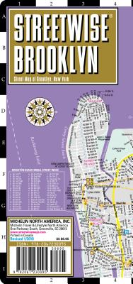 Streetwise Brooklyn Map - Laminated City Center Street Map of Brooklyn, New York (Michelin Streetwise Maps) Cover Image