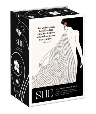 She: 100 Literary Art Postcards Box Cover Image