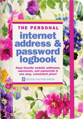 Peony Garden Internet Address & Password Logbook Cover Image