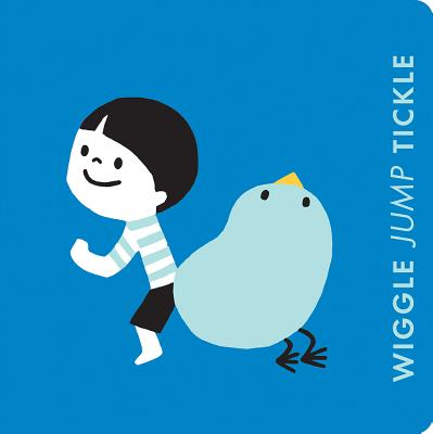 Wiggle Jump Tickle: A Little Book of Actions: Board Book Cover Image