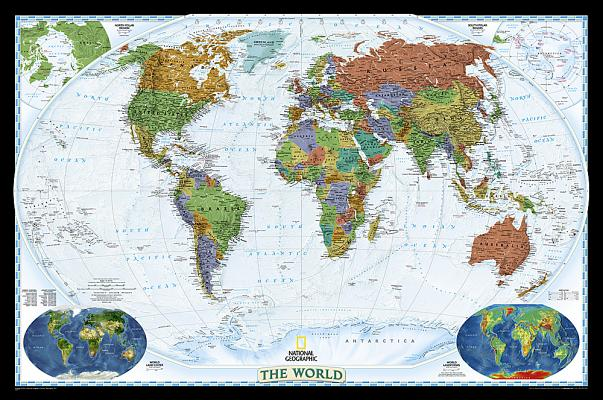 National Geographic: World Decorator Wall Map - Laminated (46 X 30.5 Inches) Cover Image