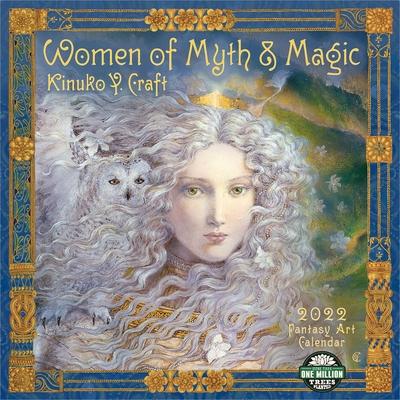 Women of Myth & Magic 2022 Fantasy Art Wall Calendar Cover Image