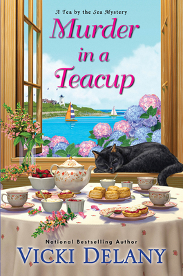 Cover for Murder in a Teacup (Tea by the Sea Mysteries #2)