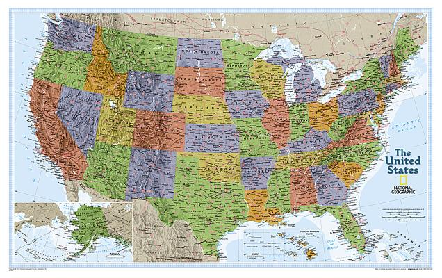 National Geographic: United States Explorer Wall Map - Laminated (32 X 20.25 Inches) Cover Image