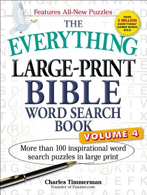 The Everything Large-Print Bible Word Search Book, Volume 4: More Than 100 Inspirational Word Search Puzzles in Large Print (Everything®) Cover Image