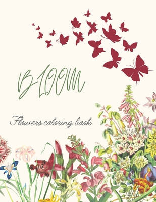 Bloom Flowers Coloring Book Cover Image