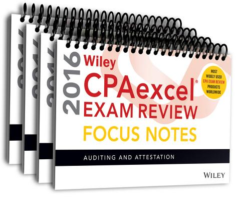 Wiley Cpaexcel Exam Review 2016 Focus Notes Set Cover Image