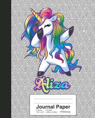 Journal Paper: ALIZA Unicorn Rainbow Notebook Cover Image