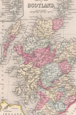 Cover for Scotland and Ireland Vintage Map Field Journal Notebook, 50 pages/25 sheets, 4x6