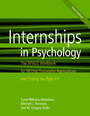 Internships in Psychology: The Apags Workbook for Writing Successful Applications and Finding the Right Fit Cover Image