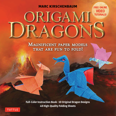 Origami Dragons Kit: Magnificent Paper Models That Are Fun to Fold! (Includes Free Online Video Tutorials) [With Book(s)] Cover Image