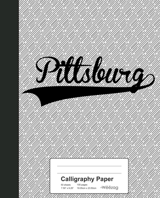 Calligraphy Paper: PITTSBURG Notebook Cover Image