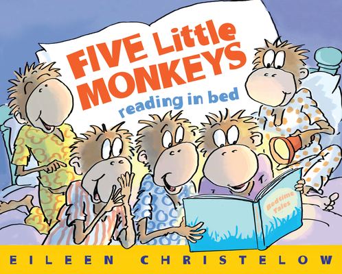Five Little Monkeys Reading in Bed Cover
