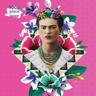 Adult Jigsaw Puzzle Frida Kahlo Pink: 1000-Piece Jigsaw Puzzles Cover Image