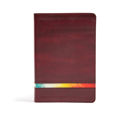 Cover for NIV Rainbow Study Bible, Maroon LeatherTouch, Indexed