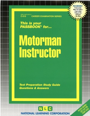 Motorman Instructor: Passbooks Study Guide (Career Examination Series) Cover Image