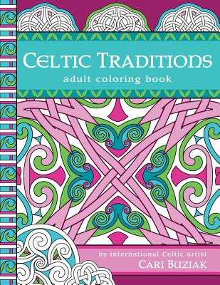 Celtic Traditions adult coloring book: 50 pages to color, 8.5