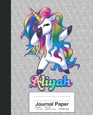 Journal Paper: ALIYAH Unicorn Rainbow Notebook Cover Image