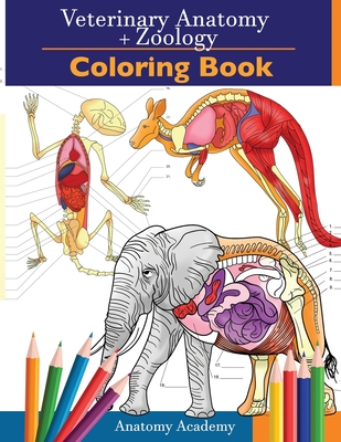 Veterinary & Zoology Coloring Book: 2-in-1 Compilation Incredibly Detailed Self-Test Animal Anatomy Color workbook Perfect Gift for Vet Students and A Cover Image