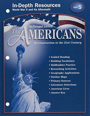 McDougal Littell The Americans In Depth Resources Unit 5