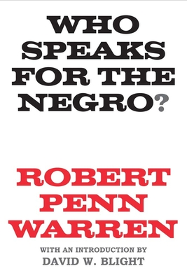 Cover for Who Speaks for the Negro?